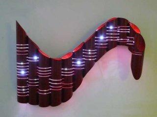 Светильник из бумажной трубы