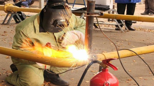 Сварка газовых труб монтаж