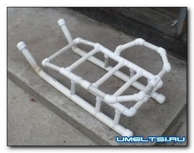 Санки детские из пластиковых труб