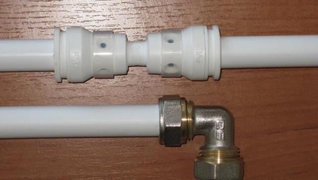 Цанговое соединение труб отопления