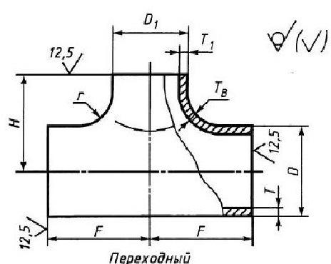 Тройник для труб стальных водогазопроводных