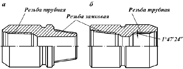 Типы замков для соединения бурильных труб