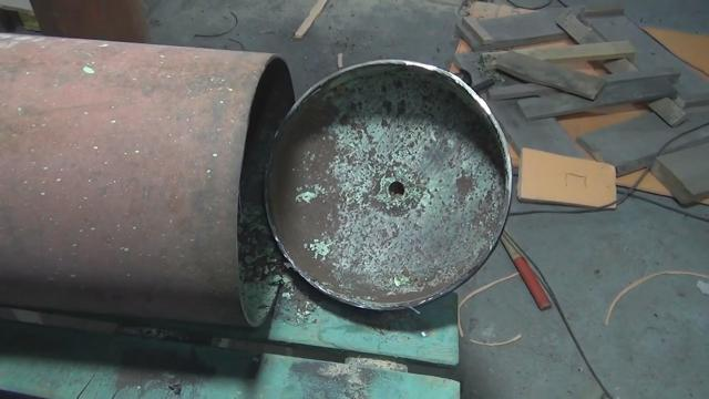 Самодельный твердотопливный котел труба в трубе