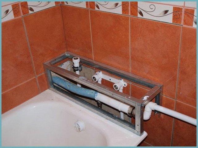 Как красиво не закрывать трубы в ванной